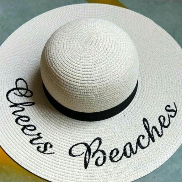 43bcebe0 Cheers Beaches Accessories | Floppy Beach Hat In Ivory | Poshmark